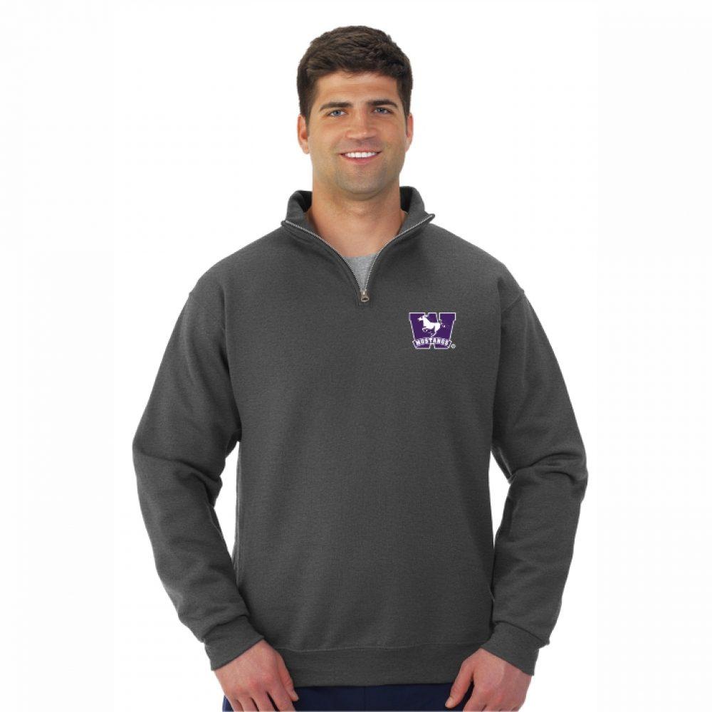 aa96acb906f 995MR NuBlend® QUARTER ZIP CADET COLLAR Sweatshirt